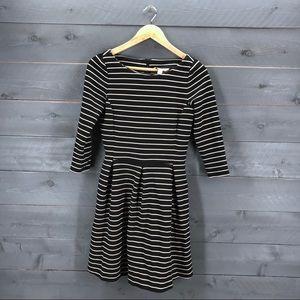 BANANA REPUBLIC Striped Fit Flare Dress Size